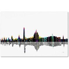 Marlene Watson Washington DC Skyline Canvas Art, Size: 16 x 24, Multicolor