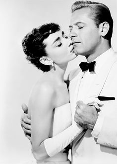 Audrey Hepburn and William Holden in Sabrina