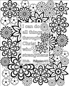 flower coloring pages bible verse coloring sheets set of 5 instant printable pdf diy digital art christian kid or adult coloring sheets