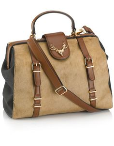 Doctors Leather Panel Bag-The stag makes it. I might need this.