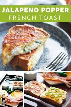 Jalapeño Popper French Toast - exchange the hearty sandwich bread for low carb bread to lessen carbohydrates