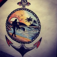 Surf Tattoo Designs | Cool Surf Tattoo Designs and Ideas