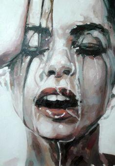 "Saatchi Art Artist: thomas saliot; Oil Painting ""Close up water"""