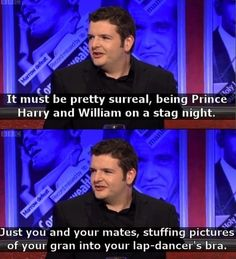 Funny pictures about Kevin Bridges On Royal Family Problems. Oh, and cool pics about Kevin Bridges On Royal Family Problems. Also, Kevin Bridges On Royal Family Problems photos. The Comedian, Comedian Jokes, Funny Captions, Funny Memes, Funny Quotes, Kevin Bridges, Family Problems, British Comedy, British Humour