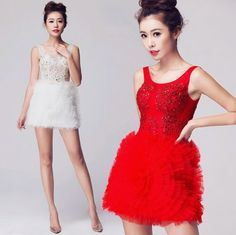party host shoulders bride toast clothing wedding dress red evening dresses in http://www.allymey.com online shopping sites