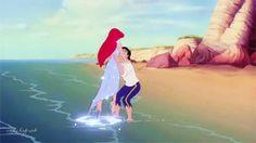 • love my gifs cute disney the little mermaid ariel Eric mermaid prince eric pinkity •