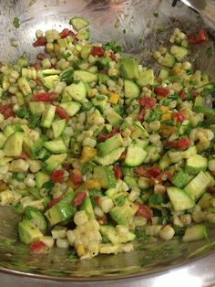 Grilled Corn, Poblano, And Onion Salad With Lime Vinaigrette Recipe ...
