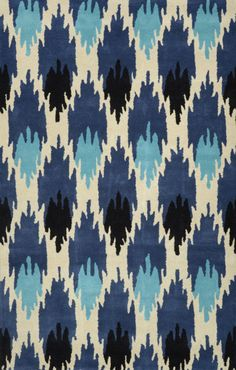 Nuloom - Nuloom Hand Tufted Amos Ikat Indigo Area Rug #118546. Great sale prices!