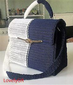 Discover thousands of images about Women Hand Bag Crochet 5 mm Plastic Canvas Polypropylene Cordon 2 Colors White Dark Blue Crochet Handles, Canvas Purse, Crochet Purses, Crochet Bags, Cheap Bags, Knitted Bags, Bead Crochet, Cloth Bags, Plastic Canvas