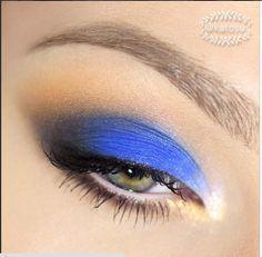 Niebiesko-morelowy makijaż katOsu