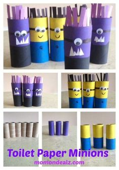 Whimsical toilet paper roll Minions