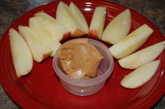 Quick and Easy Healthy Snack: Apples and Peanut Butter