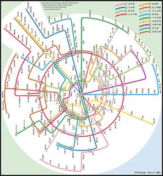Tokyo Metro map. Design by Dr Max Roberts
