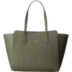 Lodis Accessories Saffiano Tyler Satchel (Olive) Satchel Handbags ($93) ❤ liked on Polyvore featuring bags, handbags, olive, real leather handbags, olive green leather handbag, handbag satchel, olive green handbag and genuine leather purse