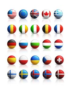 Free PSD flag language buttons of 25 different countries from all over the world. We've separated all layers, so you can easily make your own in just a few clic