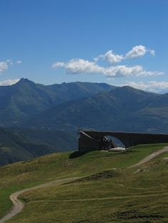 Botta's Chapel of St. Mary of the Angels, atop Monte Tamaro in Switzerland