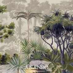 Plant Wallpaper, Botanical Wallpaper, Botanical Interior, Botanical Art, Tropical Artwork, Country Style Living Room, British Colonial Decor, Jungle Art, Cool Paintings