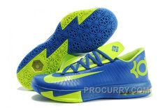 sale retailer d046c b327d Nike Kevin Durant KD 6 VI Royal Blue Neon Green For Sale Discount