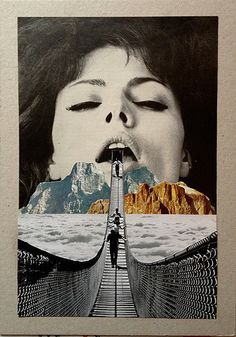 Artist Sammy Slabbinck creates surrealist collage and illustration pieces from vintage photographs. Collages, Surreal Collage, Surreal Art, Collage Artwork, Dada Collage, Soul Collage, Collage Photo, Photomontage, Street Art
