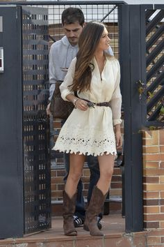I love this dress with the boots