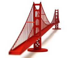Golden Gate Bridge, Paper Model Kit With Pre-cut Details || 46 Inches Long…