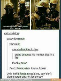 Don't blame Lucifer