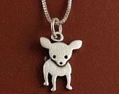Tiny chihuahua necklace