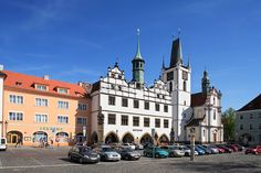 Old Town Hall, Mirove Square, Litomerice, Czech Republic - Josef Fojtik Photography Republic Pictures, Town Hall, Travel Agency, Czech Republic, Old Town, Cities, Street View, Mansions, House Styles