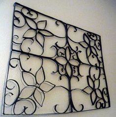 Paper craft faux wrought iron