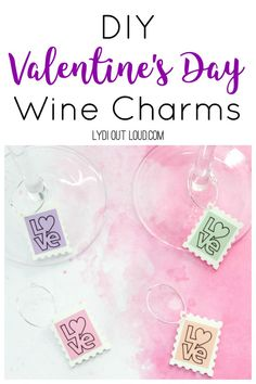 These easy DIY wine charms are perfect for Valentine