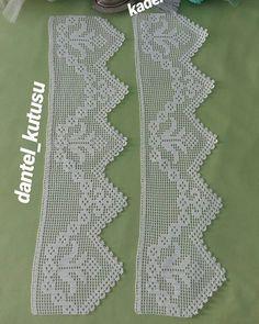 Çok Sipariş Alan 44 Muhteşem Dantel Modelleri Crochet Lace Edging, Crochet Borders, Cotton Crochet, Crochet Doilies, Crochet Hippo, Hand Crochet, Filet Crochet Charts, Crochet Stitches, Baby Knitting Patterns
