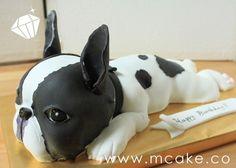 Amazing French Bulldog cake!    Source: cakecentral.com via batpigandme on Pinterest