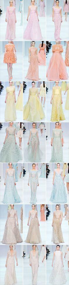 Elie Saab Pastel Wedding Dress Inspiration