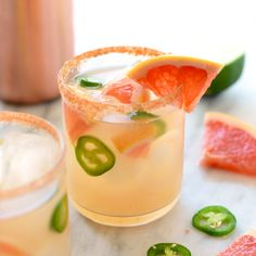 Spicy Grapefruit Margaritas - Fit Foodie Finds