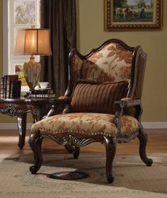 Acme Remington Bonded Leather and Fabric Traditional Living Room Set