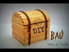 DIY │[Série Palitos de Picolé] 1 - Baú (Chest stick popsicle) - Cristiane Mendes - YouTube                                                                                                                                                     Mais
