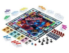 Movie and Television Monopoly Game Editions Monopoly Money, Monopoly Board, Monopoly Game, Web Swing, Dove Men, Game Night, School Fun, Super Powers, Board Games