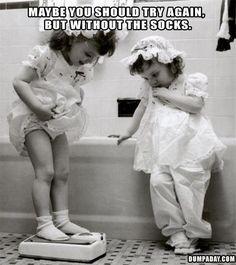 Spoken like a true Friend! Cute!