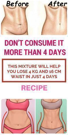 Don't Consume It More Than 4 Days: This Mixture Will Help You Lose 4 kg And 16 cm Waist In Just 4 Days – Recipe - Health Care Sport Fitness, Fitness Diet, Health Fitness, Fitness Weightloss, Fitness Goals, Get Healthy, Healthy Tips, Healthy Meals, Stay In Shape
