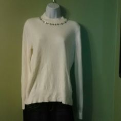 Jewel Sweater Simply beautiful comfortable sweater bejeweled with sparkling gemstones Morgan & Co. Sweaters Cardigans