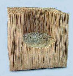 Reed chair by Pawel Grunert | FurnitureAndWoodShavings.blogspot.co.uk