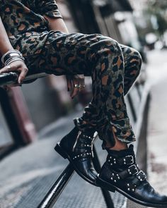 Rock 'n' Roll Style ★ @mikutas    Leo and studs