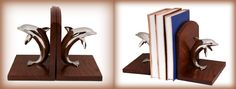 Perfect for my beach themed decor. Wonderful Dolphin wooden bookends