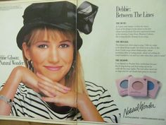 Debbie Gibson for Natural Wonder.  Natural Wonder was Revlon's younger sister.