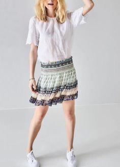 Paisleymønstret Nederdel 171-154 Iman SS17 Paisley Woven Skirt