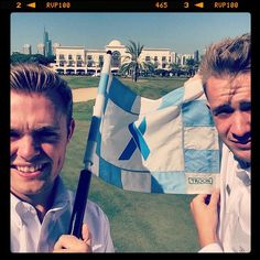 Are you ready for another #TroonSelfie? This time we are headed to #Dubai where we find Adam Dutson Jack Ronan posing for a #selfie at The Montgomerie Dubai. They took this photo during the month of September when The Montgomerie Dubai was promoting National Prostate Cancer Awareness Month. #Troon #TroonGolf #PlayTroon
