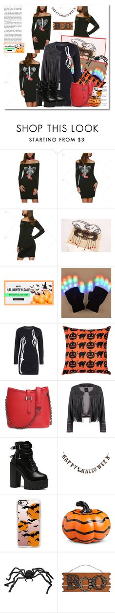 """""""Dresslily Halloween giveaway"""" by cindy88 ❤ liked on Polyvore featuring Pillow Decor, Creative Co-op, Casetify, Improvements and WALL"""