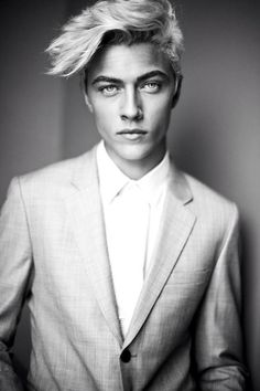 Lucky Blue Smith- People. Faces. Guys. Men. Confidence. Style. Cool. Classic. Leather. Textures. Layers. Indie. Dapper. Rugged. Beards. Hair. Skin. Beauty. Man Buns. Tees. Suit + Tie. Artistic. Tattoos. Piercings. Body. Features. Athletes. Selfies. Denim. Clean Cut. Distinguished. Tattoos. Jawlines. Eyes. Strong.