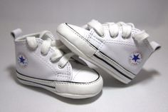 converse white leather new born crib 1 booties boys girls all star baby shoes from $21.5