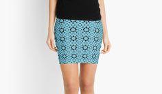 Spanish Geometric Pattern Mini Skirts #RedBubble #Shopping #Woman #Clothing #Gift #GiftIdea #Art #Design